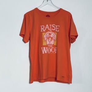 Life is Good RAISE THE WOOF graphic Crusher Tee XL